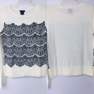 Gorgeous light weight lace accent sweater